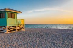 Lifeguard Tower in Venice Beach, Florida Stock Photos