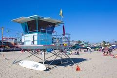 Lifeguard Tower on Watch in Santa Cruz Stock Image