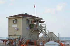 Lifeguard towers at sea. Lifeguard station on the beach Stock Photo
