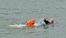 Lifeguard training exercise royalty free stock image