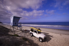 Lifeguard truck on the beach Royalty Free Stock Images