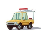 Lifeguard truck. Lifeguard yeloow truck illustrtion a Stock Images