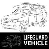 Lifeguard Vehicle Royalty Free Stock Photos