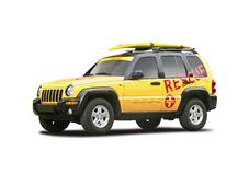 Lifeguard vehicle Stock Photo