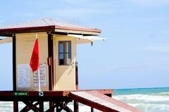 Lifeguard warning Royalty Free Stock Images