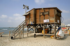 Lifeguard watch hut coast Royalty Free Stock Images