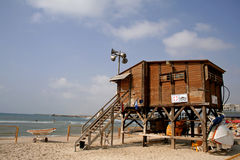 Lifeguard watch hut coast Royalty Free Stock Photography