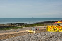 Lifeguard on beach at Ovingdean, Brighton, England Stock Photos