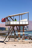 Lifeguard Watchtower on Cavancha Beach in Iquique, Chile Stock Image