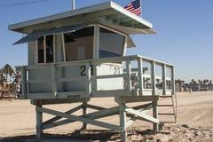 Lifeguard Watchtower. Closeup of a lifeguard's office/watchtower Stock Photo