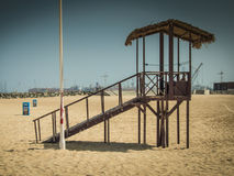 Lifeguard watchtower at Dubai beach, UAE Stock Images