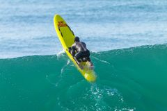 Lifeguard Wave Paddling Surf Rescue Craft royalty free stock images