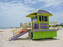 Lifeguard Wood House in Miami Beach Stock Photography