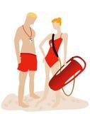 Lifeguards royalty free stock photos