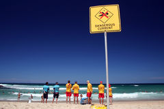Lifeguards. In Tamarama beach, Sydney, NSW, Australia Royalty Free Stock Images