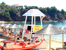 Lifeguards, Achladia beach, Skiathos. Stock Image