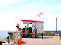 Lifeguards, Dawlish Warren, Devon. Royalty Free Stock Photo