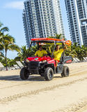 Lifeguards driving a Beach Buggy in Miami Beach Stock Photography
