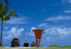 Lifeguards, Hawaii Stock Images