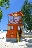 Lifeguards hut. A lifeguards hut in Barbados Royalty Free Stock Photography