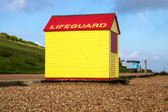 LifeGuards hut Stock Image