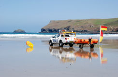 Lifeguards na praia Imagens de Stock