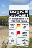 Lifeguards notice at ballybunion beach Royalty Free Stock Photo