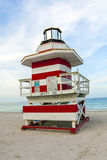 Lifeguards outpost tower in South Beach, Miami Stock Photo