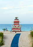 Lifeguards outpost tower in South Beach, Miami Royalty Free Stock Photography