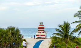 Lifeguards outpost tower in South Beach, Miami Stock Image