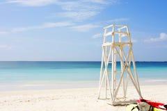 Lifeguards place at beach Stock Photos
