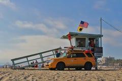 Lifeguards at Santa Monica Beach Royalty Free Stock Photo