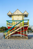 Lifeguards Stand at South Beach Stock Image