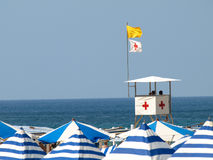 Lifeguards in tower Stock Photos