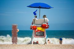 Lifeguards watching beach Stock Image