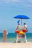 Lifeguards watching beach Stock Photo