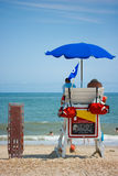 Lifeguards watching beach Royalty Free Stock Photo