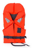 Lifejacket. Orange life jacket for water activities - isolated on white background Stock Photography