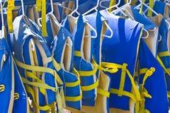 Lifejackets. Life jackets in Shoreline Park, California stock images