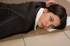 Lifeless businesswoman in a office Stock Photos