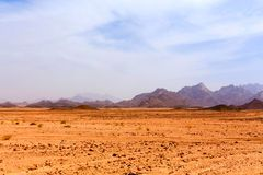 Lifeless hot desert Royalty Free Stock Photography