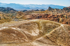 Lifeless landscape of the Death Valley Royalty Free Stock Photo