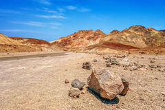 Lifeless landscape of the Death Valley Stock Photo