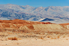 Lifeless landscape of the Death Valley Royalty Free Stock Image