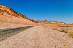 Lifeless landscape of the Death Valley Royalty Free Stock Photos