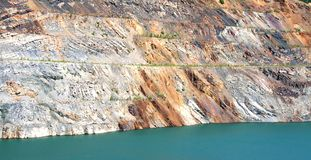 Lifeless pond. In an opencast mine Stock Images