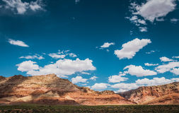 Lifeless rocks and blue sky. Arid Arizona Royalty Free Stock Photos