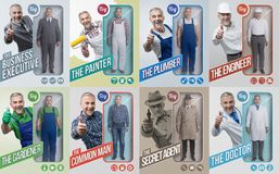 Lifelike toy dolls collection royalty free stock photos