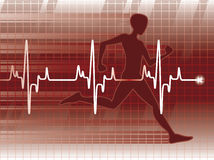 Lifeline. A cardiogram and a physical fitness exam Stock Image