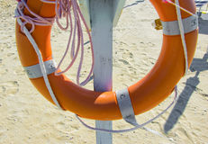 Lifeline on the beach Stock Photos